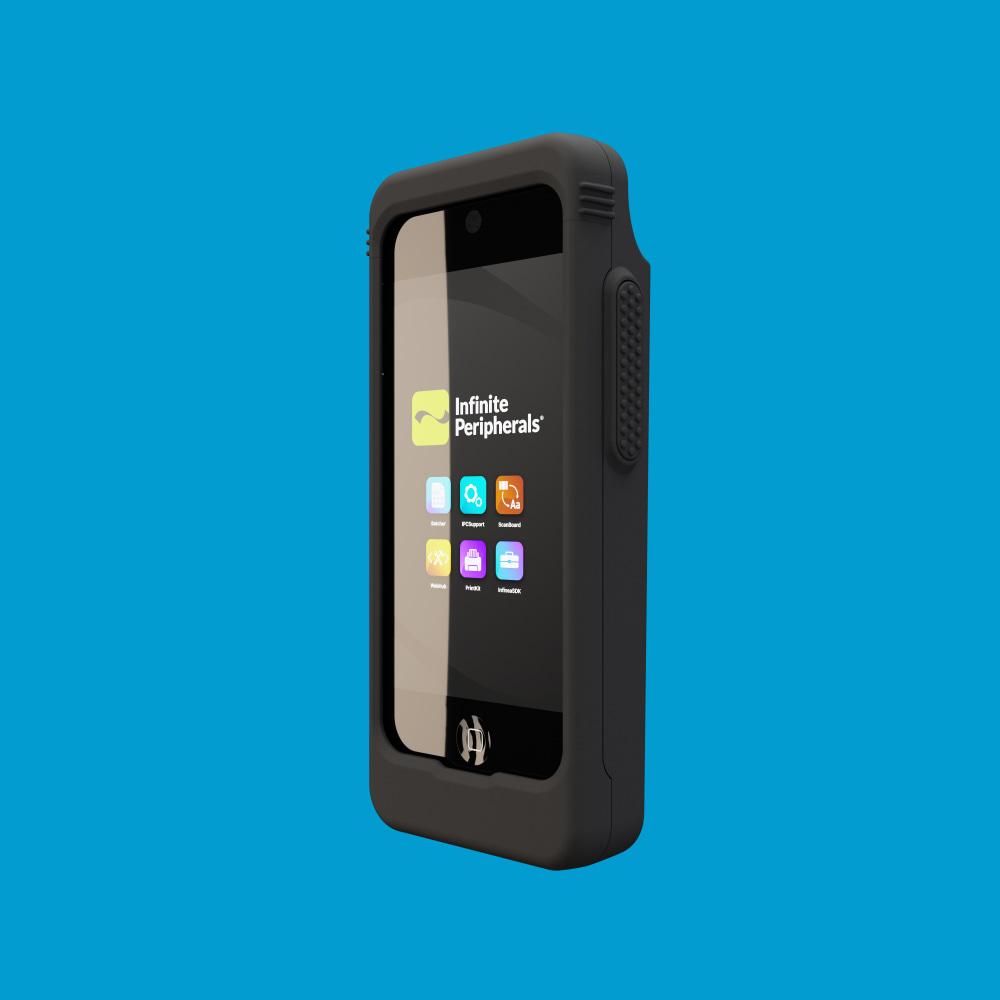 Infinite Peripherals Linea Pro Rugged for iPod touch front left