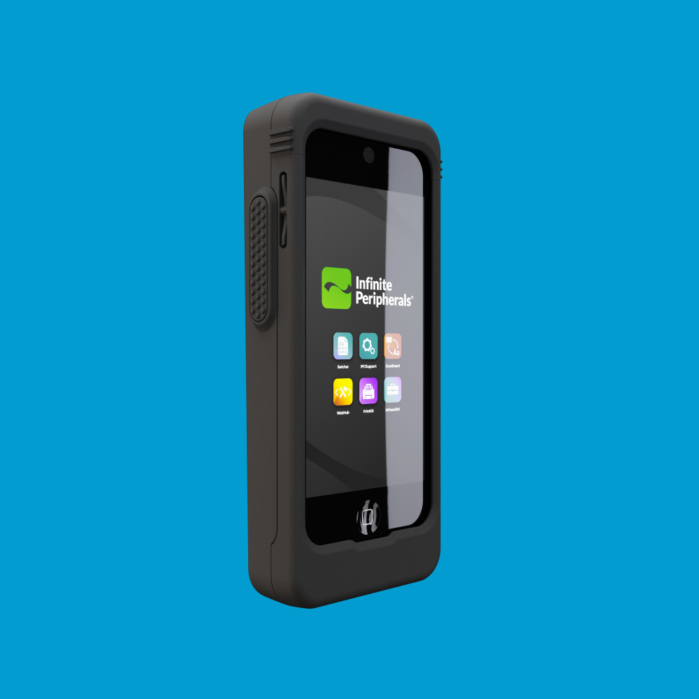 Infinite Peripherals Linea Pro Rugged for iPod touch front right