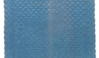 Peacock Whole Cloth Quilt Photo