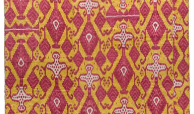 Quilted ikat hanging Quilt Photo