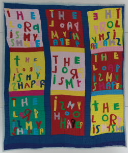 Bible Verse Quilt: The Lord is My Shepherd