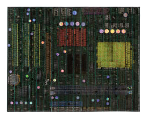 Pattern Fusion No. 16: Motherboard 7 (Green Maquette)