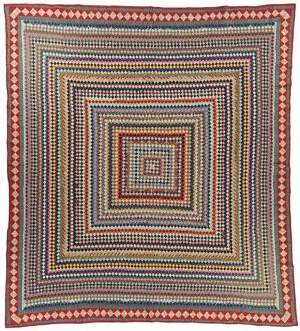 Trip Around the World quilt made by Ida Pricilla Williams Giebner