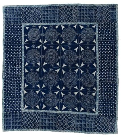 Adire cloth quilt