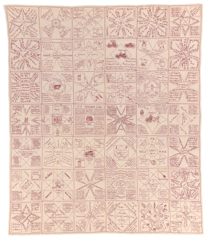 1888 Fort Scott Methodist Church redwork quilt