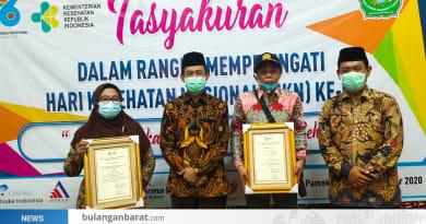 Kepala Desa Bulangan Barat Raih Penghargaan Kategori Kepala Desa Terbaik Nasional 2020