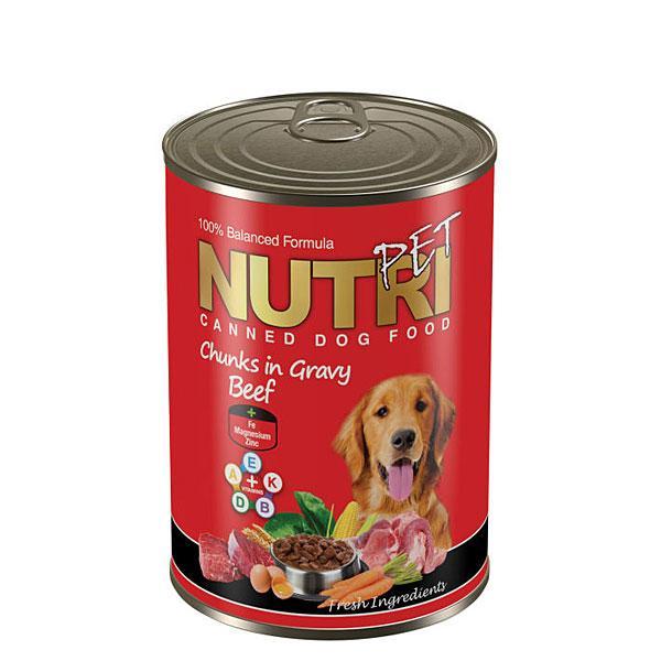 کنسرو غذای سگ نوتری پت مدل چانک | پرشین پت لند