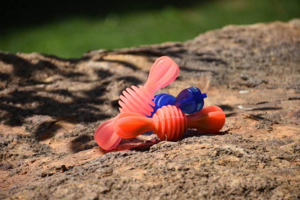 اسباب بازی دندانی سگ طرح پروانه کد z204 | پرشین پت لند