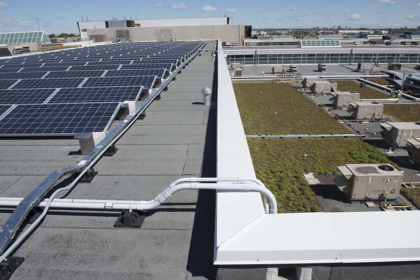 Solar Panels & Green Roof systems designed by IRC