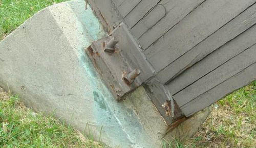 Deterioration of existing exterior glulam beam