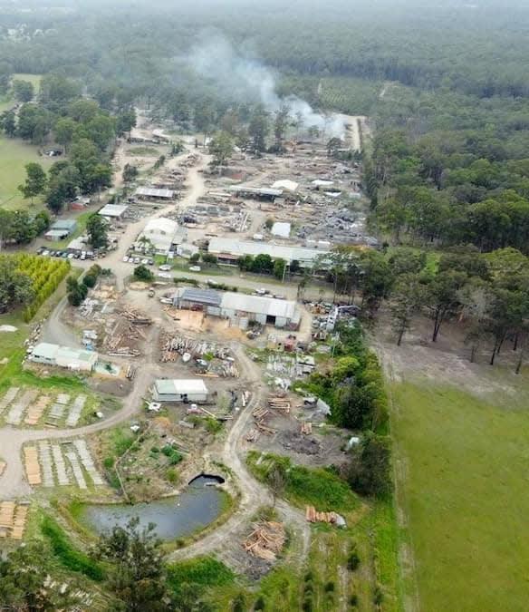 Euc. spp. ironwood timber mill near Taree sydney australia - environmental