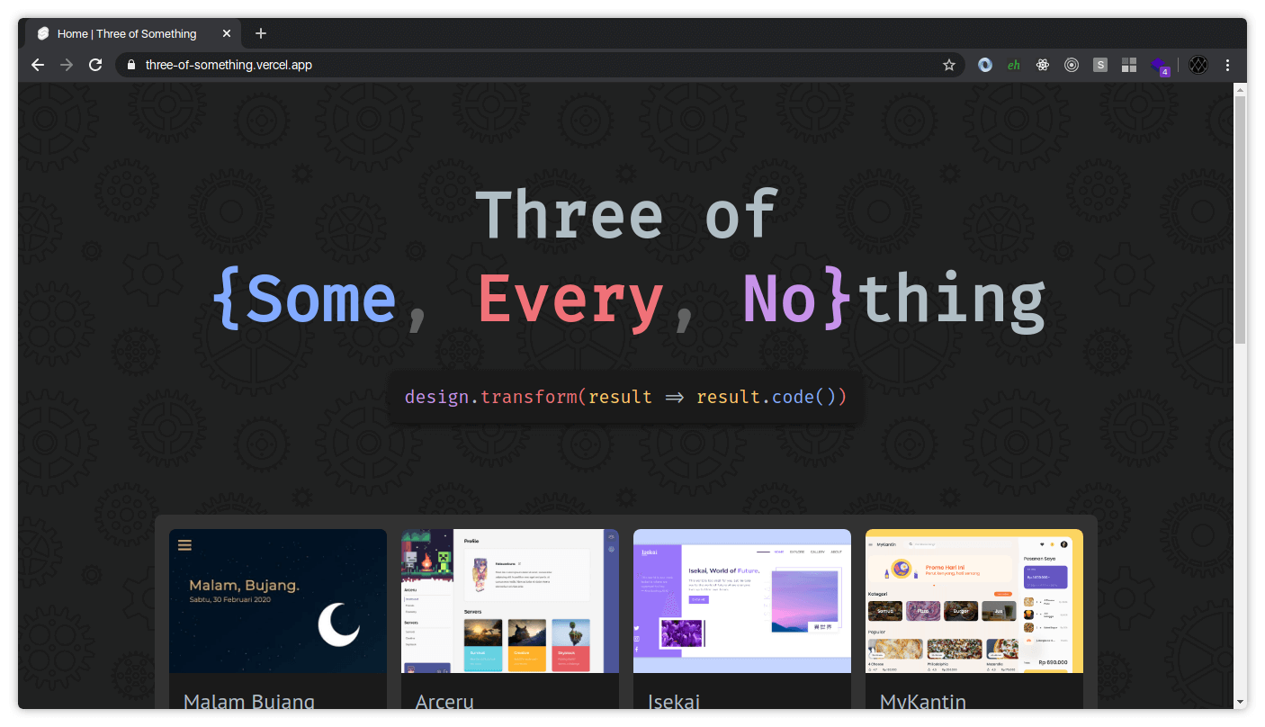 Three of something