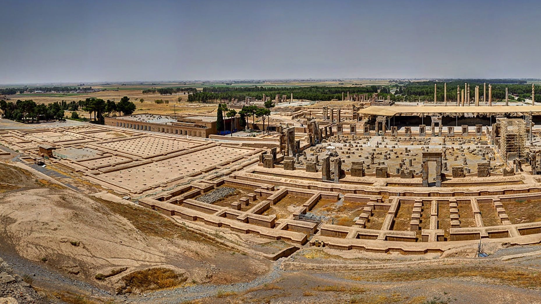 panoramic view photo over persepolis in iran