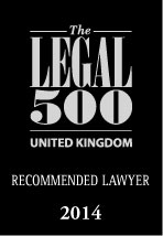 Legal 500 recommended lawyer 2014