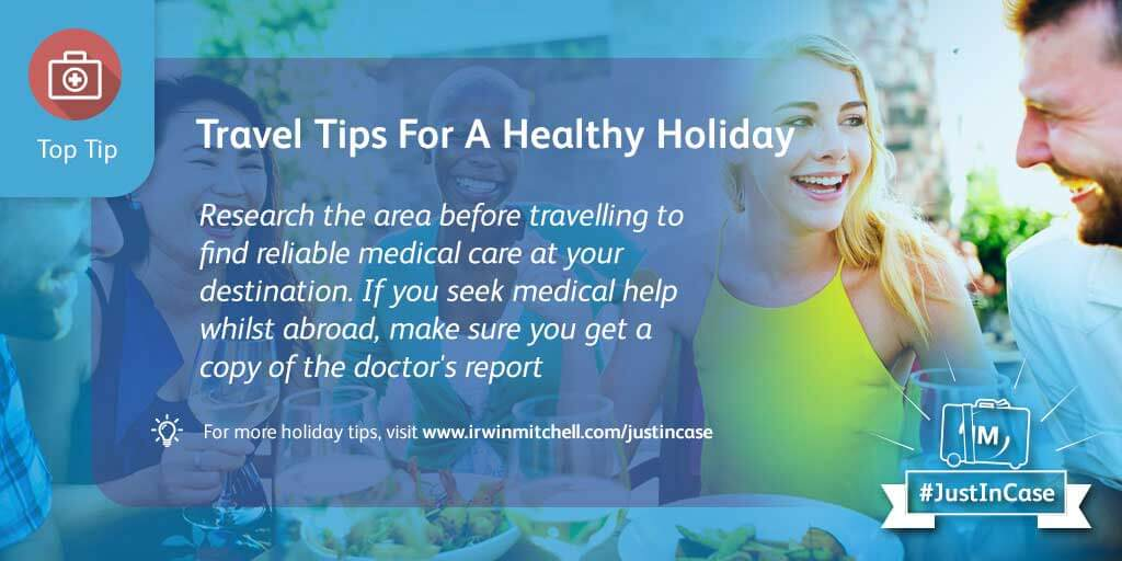 Travel tips for a healthy holiday