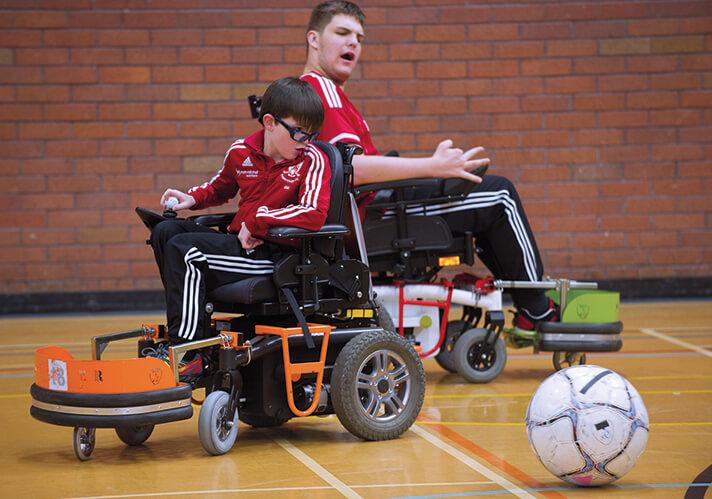 powerchair football match