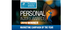 Winner - Personal Injury Awards 2016 Marketing Campaign of the Year