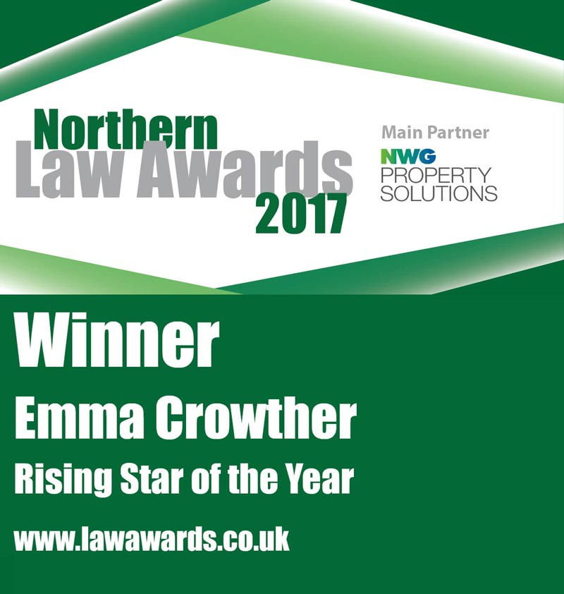 Emma Crowther Northern Law Awards Rising Star of the Year 2017