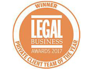 Private Client Team of the Year - Legal Business Awards 2017