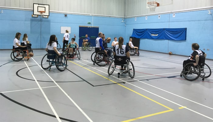 Hampshire Harriers Wheelchair Basketball Team