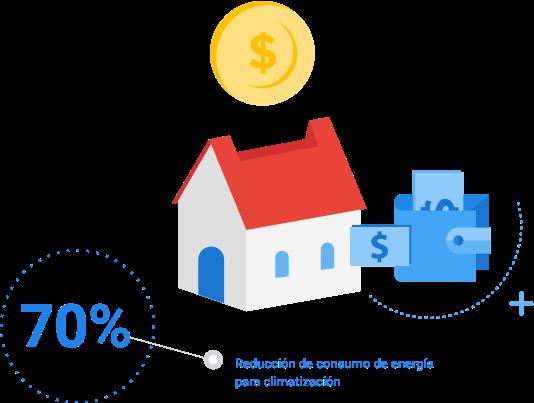 Una casa aislada consume menos