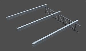 Sobre las correas se prepara un sostén de RED 2x2 ISOLANT.  Tambián puede utilizarse alambre galvanizado haciendo un entramado romboidal de 30x30 cm.