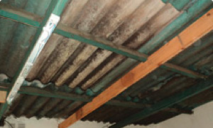 Asegúrese que haya una distancia menor a 1,60m entre viga y viga del techo. Caso contrario agregar vigas para respetar dicha distancia.
