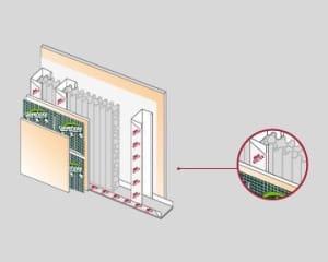 Colocación Covering en paredes