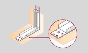 Banda Acoustic se aplica en las superficies de contacto de montantes y soleras con cualquier estructura.