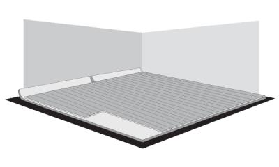 Se procede a cubrir con las placas toda la superficie del piso, realizando los cortes necesarios al finalizar. Evalúe previamente donde le conviene dejar aquellas placas que deberán ser cortadas.