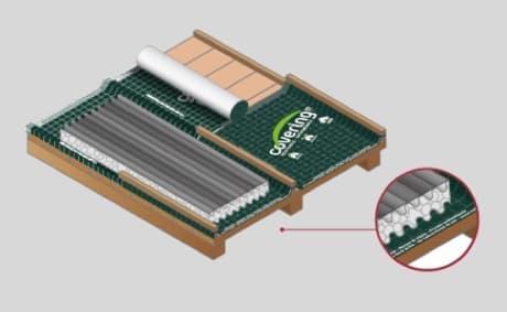Colocación de Ondusec Reflex en techos
