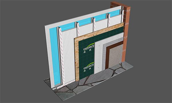 Colocación de Ondusec Reflex para Steel Framing - EIFS