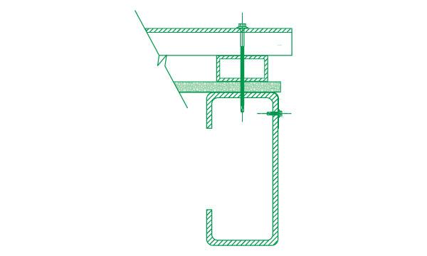 """Es obligatorio para el uso de chapa U 45, T 101 o chapa plana similar, en las Zonas Bioclimáticas I, II y III (Argentina) y países Sub -Tropicales y Tropicales, el uso de perfil rectangular de 25x50 mm o un listón de madera de 2"""" x 1"""" para garantizar la vida útil del material."""