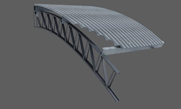 Replantear y ejecutar bajo la estructura del techo un entramado de sostén.