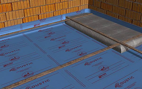 Instale el resto de los rollos, teniendo cuidado de superponer los bordes 5 cm para garantizar la continuidad de la capa aislante. Dichos bordes presentan un rebaje para poder termosoldar la unión con pistola de calor.