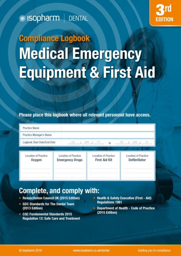 Medical Emergency Equipment & First Aid Log Book
