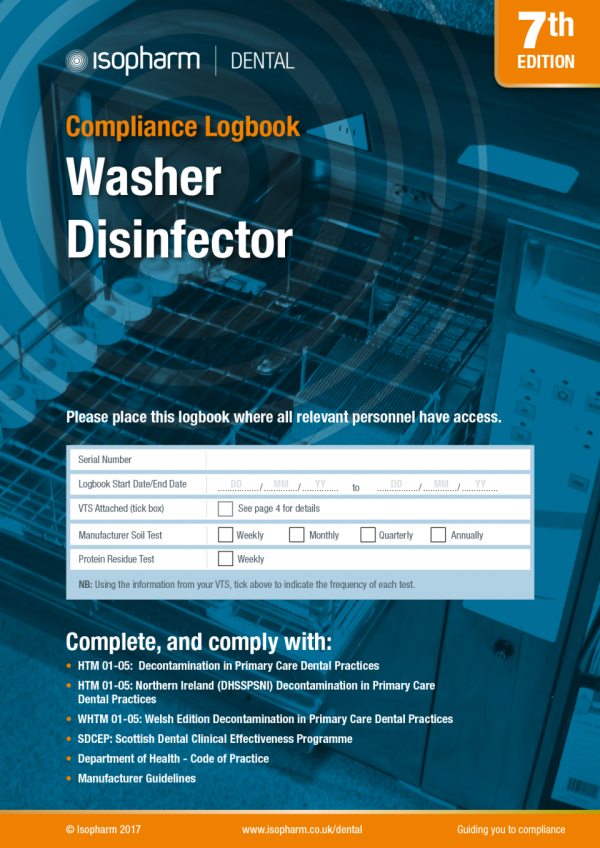 Washer Disinfector Compliance Logbook