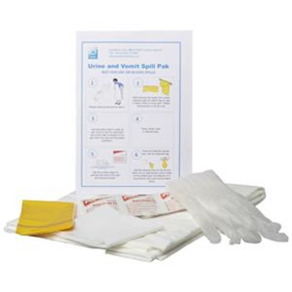 Guest Urine and Vomit Spill Pack with Super Absorbent Pad