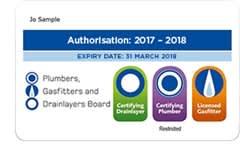 gas authorisation card