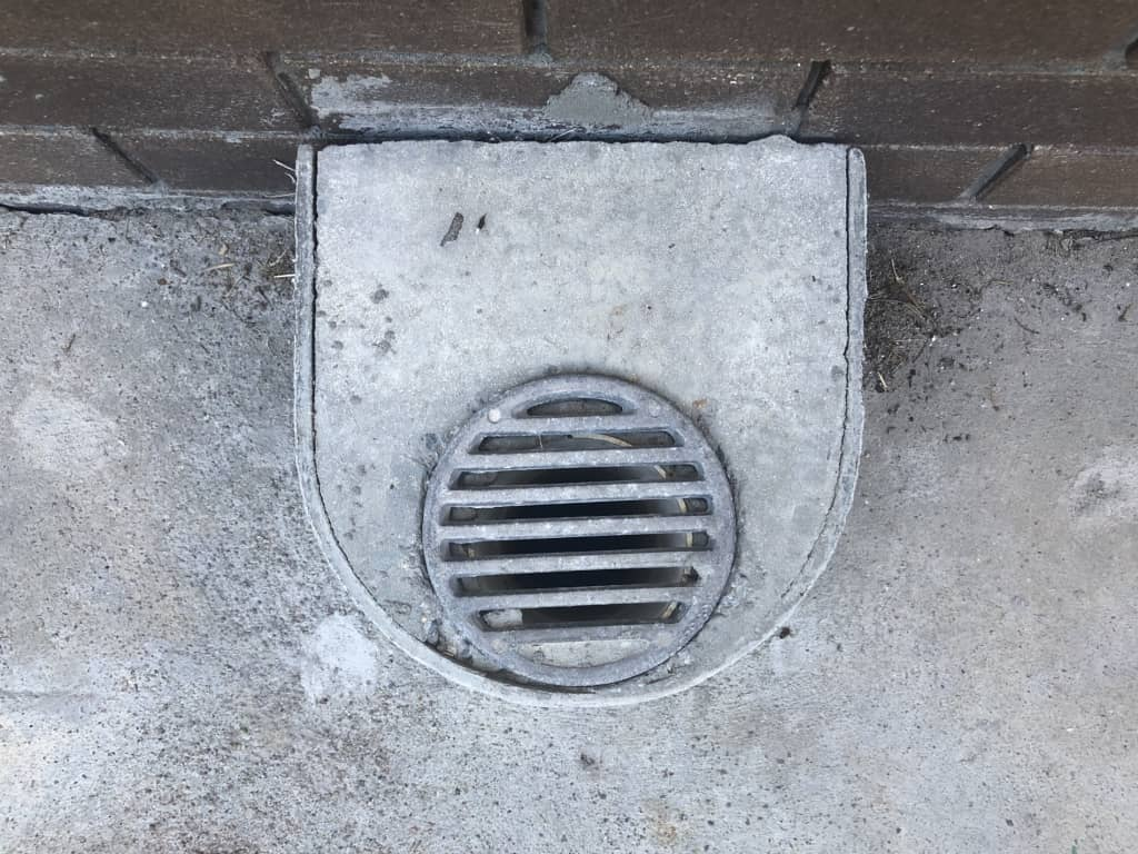 sewer overflow relief gully