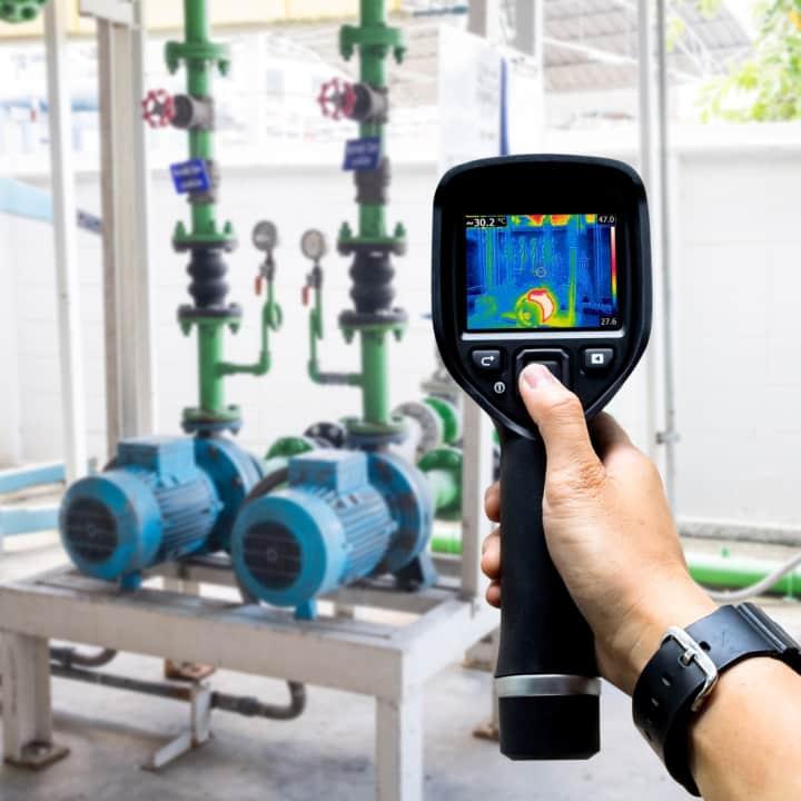 thermal imaging camera for leak detection