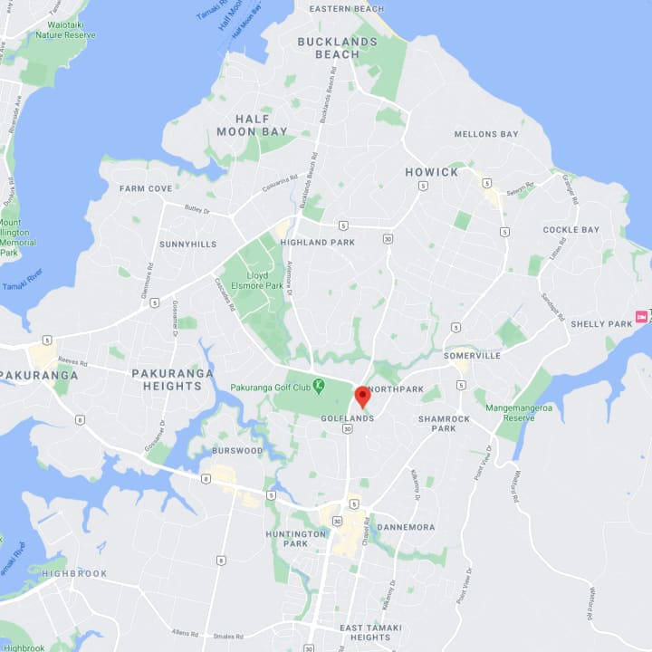 East Auckland Map
