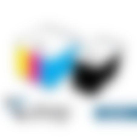 זוג ראשי דיו תואמים HP 122XL שחור+ צבע
