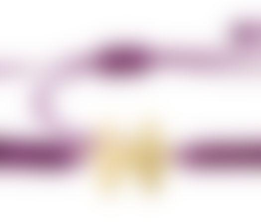 צמיד הפאזל שלנו - סגול חציל, בציפוי זהב