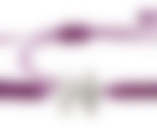 צמיד הפאזל שלנו - סגול חציל, בציפוי כסף