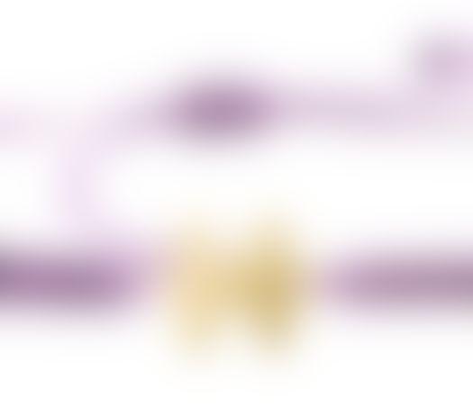 צמיד הפאזל שלנו - סגול בהיר, בציפוי זהב