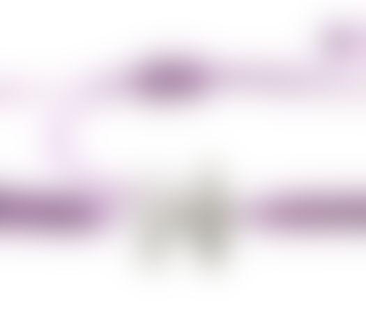 צמיד הפאזל שלנו - סגול בהיר, בציפוי כסף
