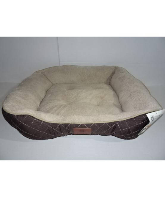 אולטרה מידי מיטה לכלב גדול/בינוני דוגמת מעוינים AKC   מיטה לכלב - מחמד-לי GF-71