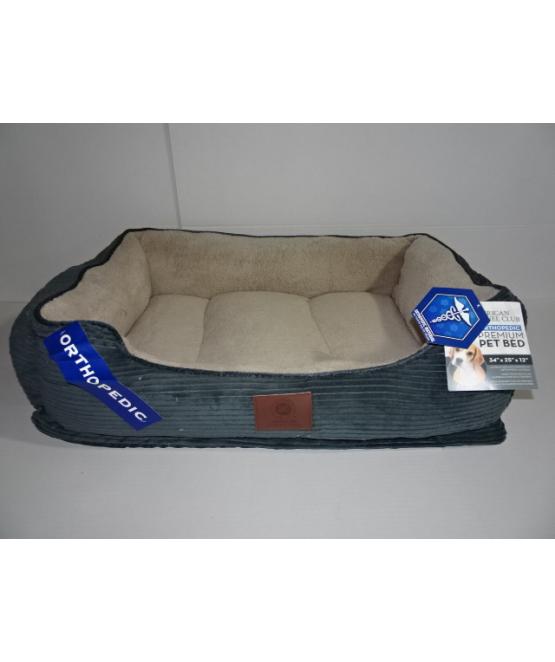 מאוד מיטה לכלב גדול/בינוני אורטופדית מקורדרוי AKC   מיטה לכלב - מחמד-לי IV-09
