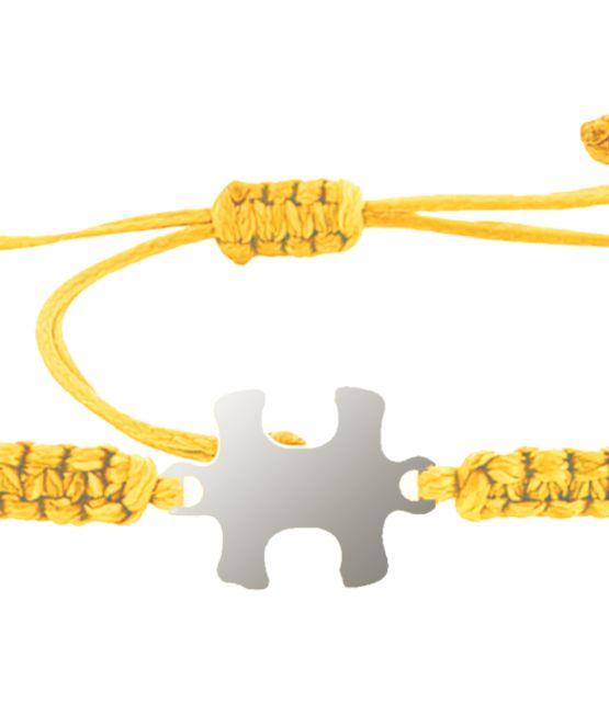 צמיד הפאזל שלנו - צהוב, בציפוי כסף
